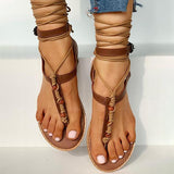 Remishoes Bandage Design Toe Post Flat Sandals