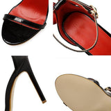 Remishoes Women Summer Sandals Peep-Toe Sexy Heels