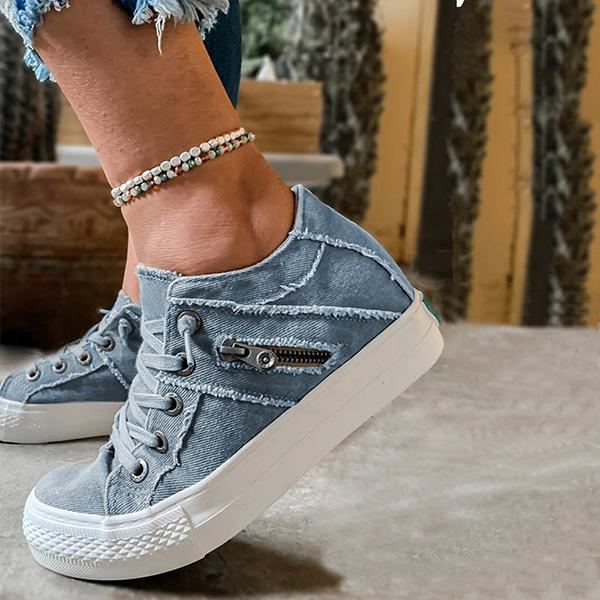Remishoes Women Comfy Hipster Smoked Canvas Sneakers