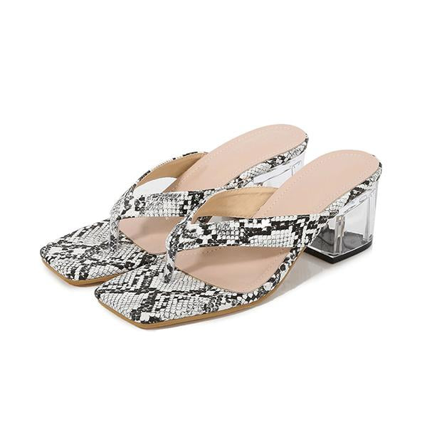Remishoes Snakeskin pattern transparent with sandals