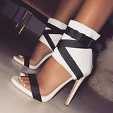 Remishoes Summer Soild Off Street Zipper Heels