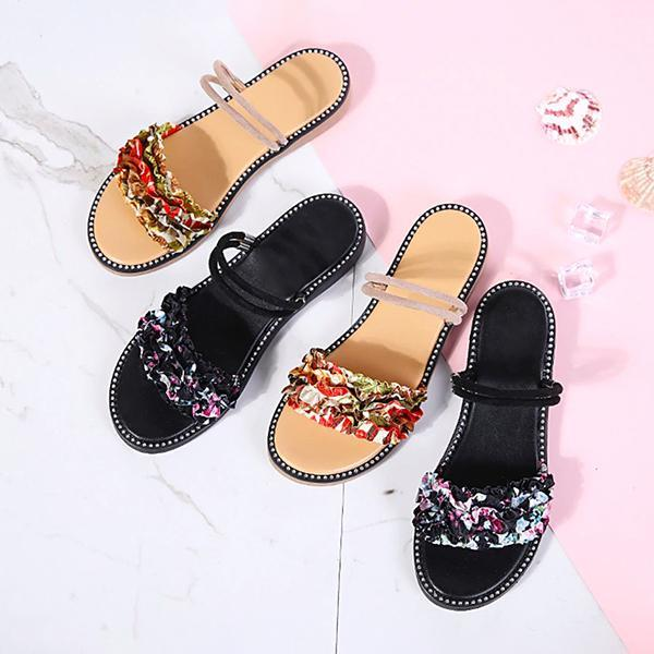 Remishoes Summer Vocation Slip-On Low Heel Sandals