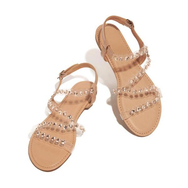 Remishoes Women's Summer Peep Toe Sweet Flat Heel Sandals