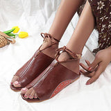 Remishoes Flat Sole Solid Round Head Women's Sandals
