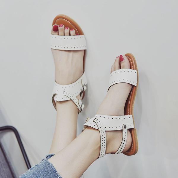 Remishoes Rome Style Double Buckle Casual Beach Sandals