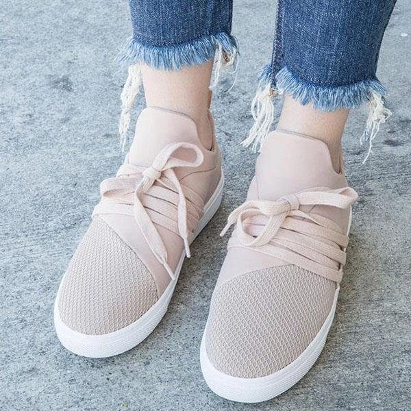 Remishoes Women Athletic Canvas Pink Slip On Flat Heel Sneakers