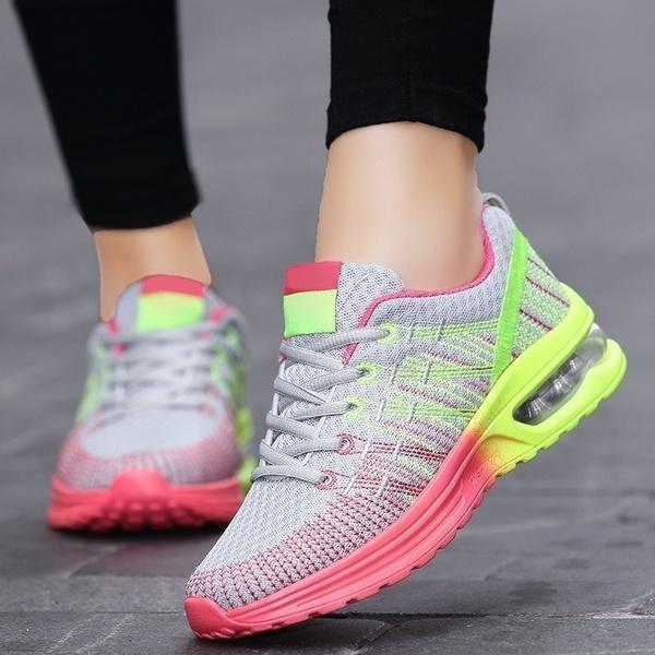 Remishoes Women Fashion Comfy Lace-up Running Sneakers