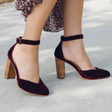 Remishoes Women Sexy Chunky Heel Sandals