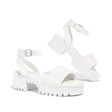 Remishoes Women's Chunky Heel Platform Sandals