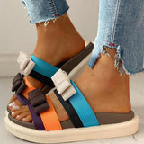 Remishoes Cute Open Toe Flat Slip-On Sandals
