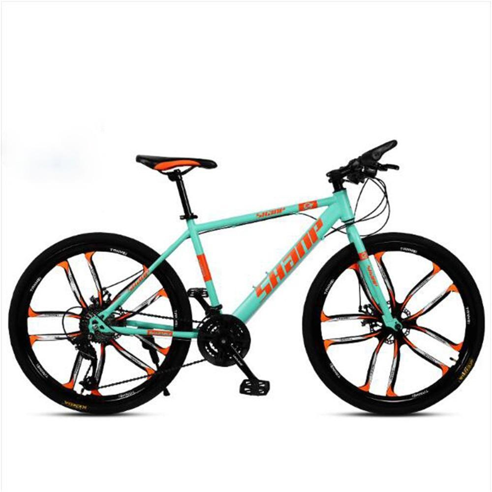 Remishoes 26inches Double-Disc Brake Integrated Wheel Off-Road Variable Speed Mountain Bike