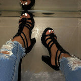 Remishoes Platform Open Toe Heels