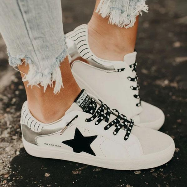 Remishoes Star Slip On No Tie Sneakers