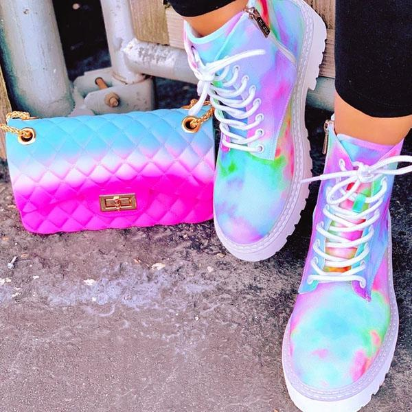 Remishoes Multicolor Rainbow Tie-Dye Sneakers