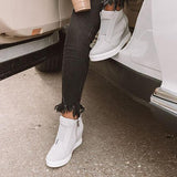 Remishoes Fashion Stylish Daily Wedge Sneakers