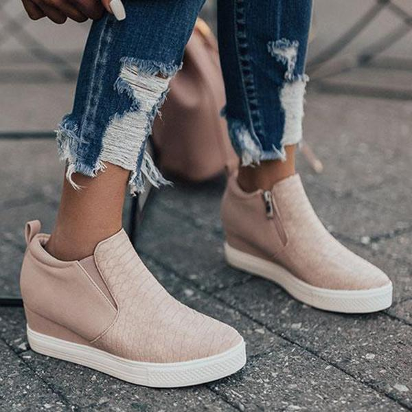Remishoes Daily Comfy Wedge Sneakers