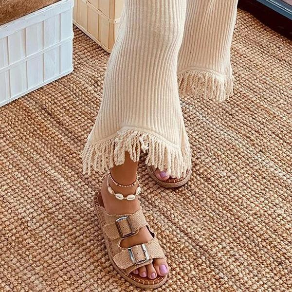 Remishoes Casual Peep-Toe Slippers