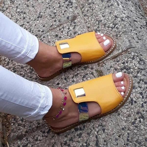 Remishoes Casual Mixed Color Flat Slippers