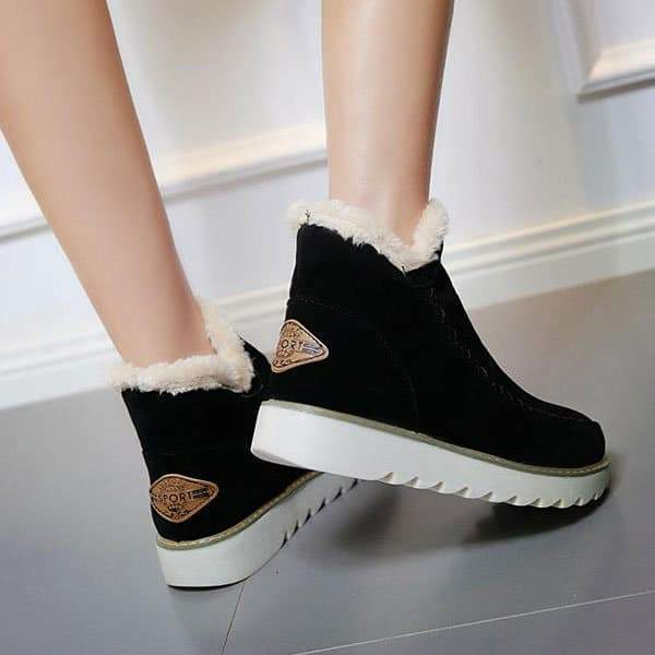 Remishoes Fur Lining Ankle Snow Boots