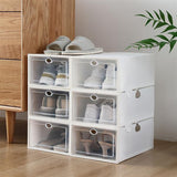 Shoe Storage Boxes 12/24/36 Pack Clear Plastic Stackable - White (Delivery in 3~7 days)