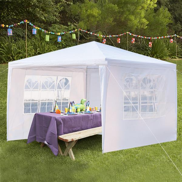 3 x 3m Three Sides Waterproof Tent with Spiral Tubes White (Delivery in 3~7 days)