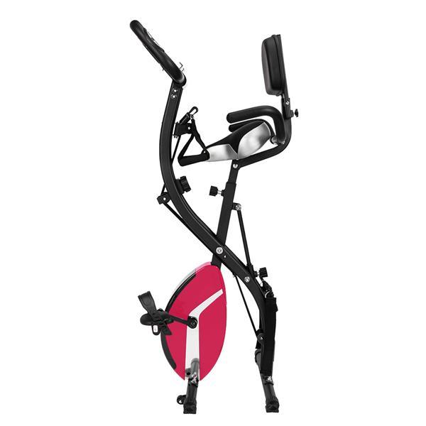 (Delivery in 3~7 days) Indoor Upright Cycle Exercise Bike, Premium 3-in-1 Foldable Stationary Bike Exercise Equipment with Adjustable Arm Resistance Bands, 8 Resistance Levels, Anti-Slip Pedal