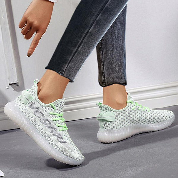 Remishoes Breathable Stitching Comfy Lace Up Sneakers