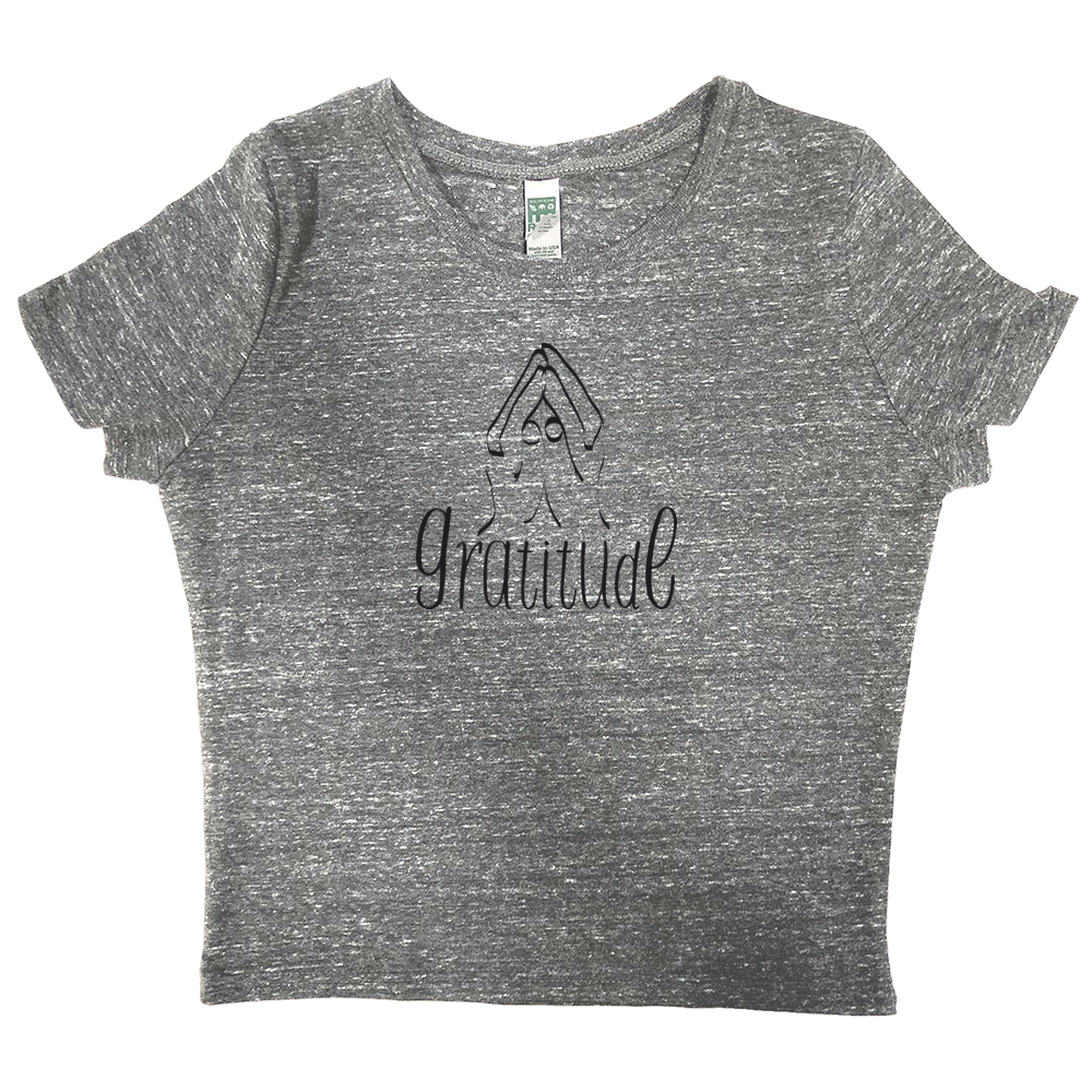 Eco Triblend 'Gratitude' Crop Top
