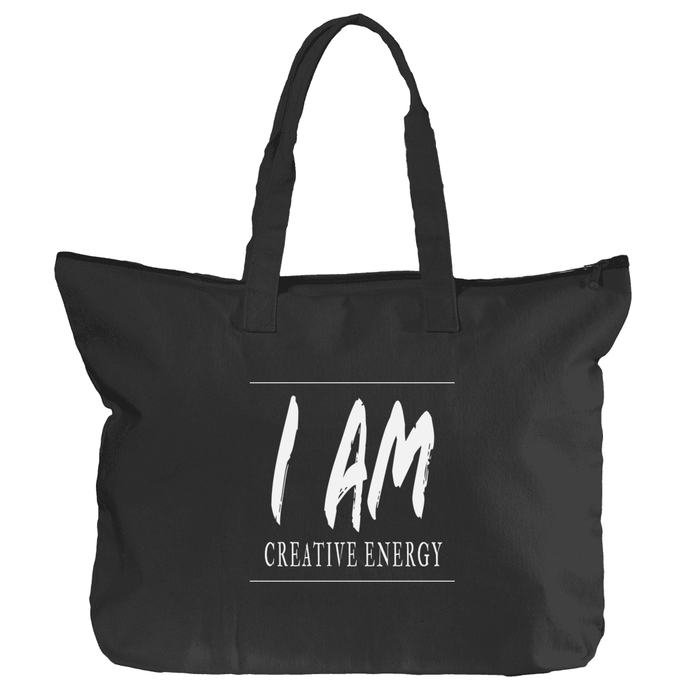 Zippered 'Creative Energy' Book Tote