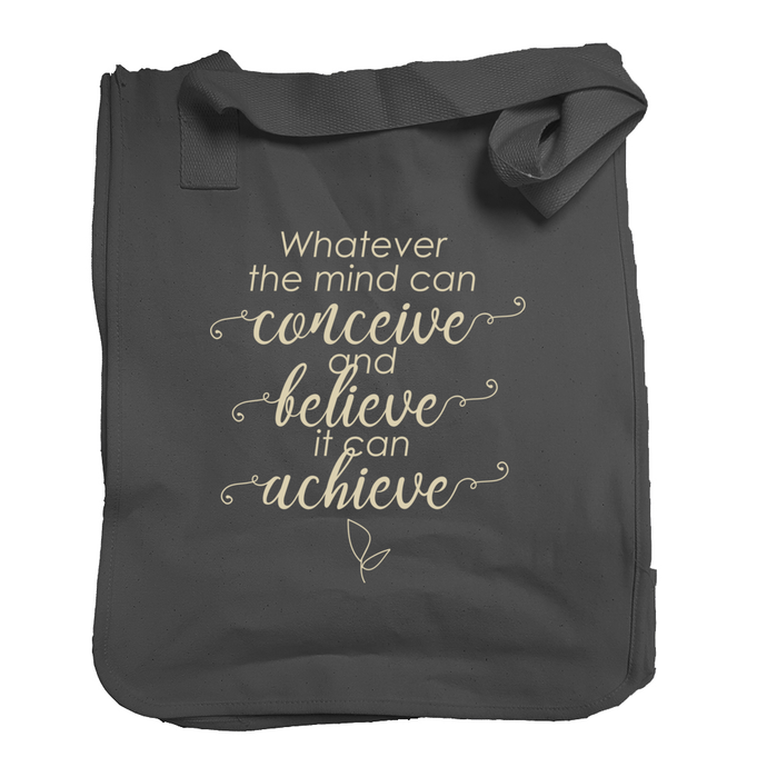 Organic 'Believe and Achieve' Market Tote