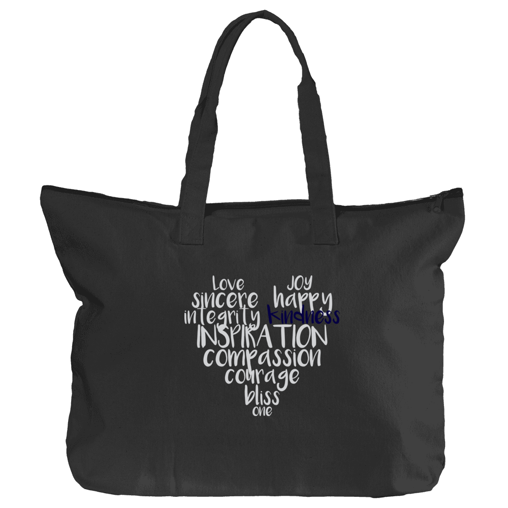 Zippered 'True Love' Book Tote
