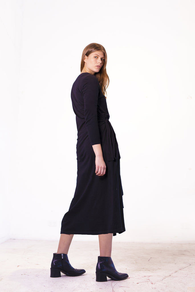 Inclination Dress Organic Black