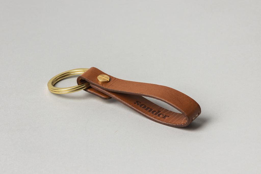 Leather Key Fob Tan