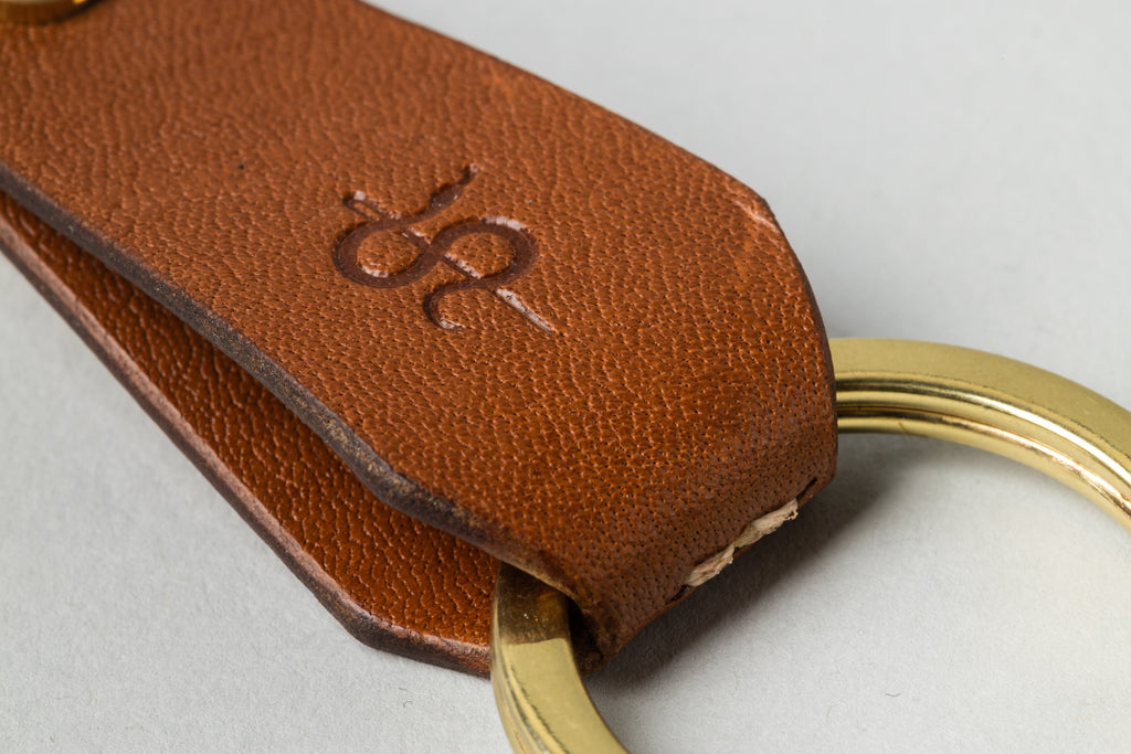 Coffin Key Fob Tan