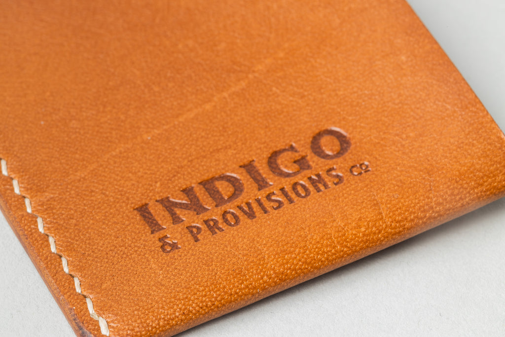 Indigo & Provisions Card Sleeve Tan