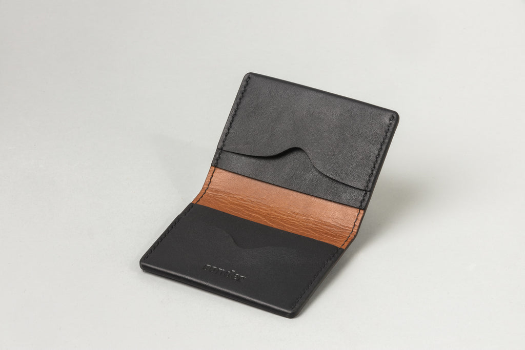 Driving Wallet Black W/ Tan