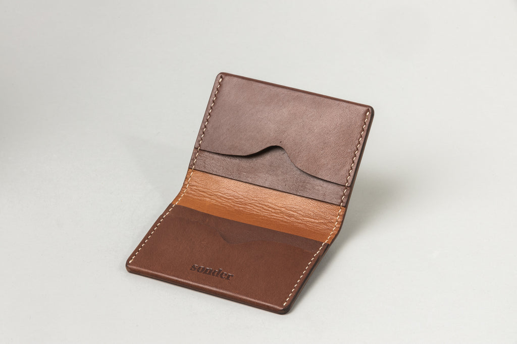 Driving Wallet Brandy W/ Tan