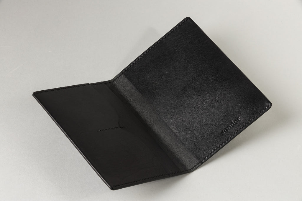 Notebook / Passport Wallet Black