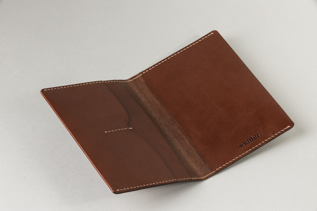Notebook / Passport Wallet Brandy