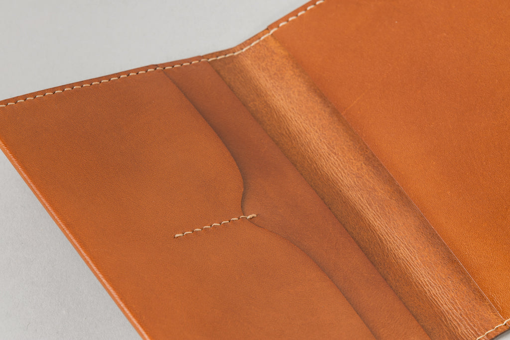 Notebook / Passport Wallet Tan