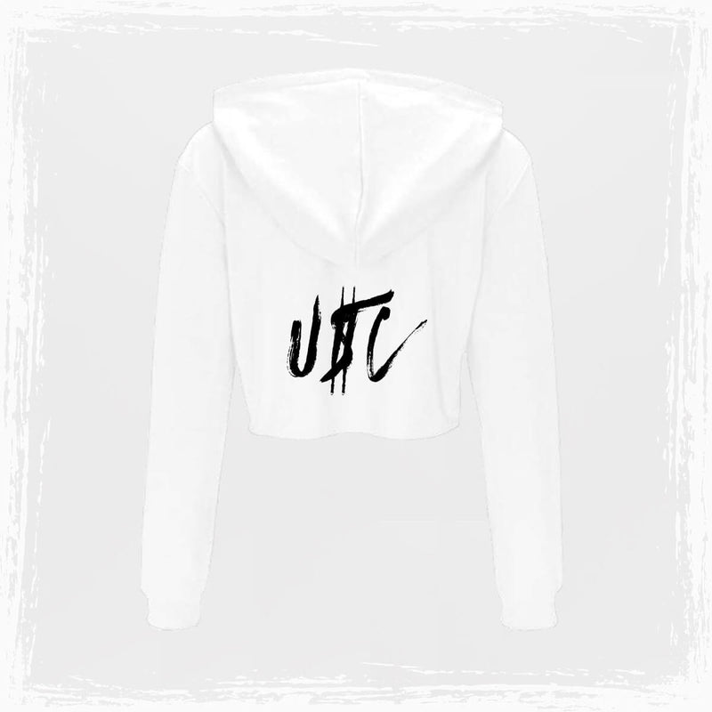 USC Grunge Cropped Hoodie