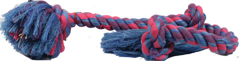 Flossy Chews Color 3 Knot Rope Tug Dog Toy