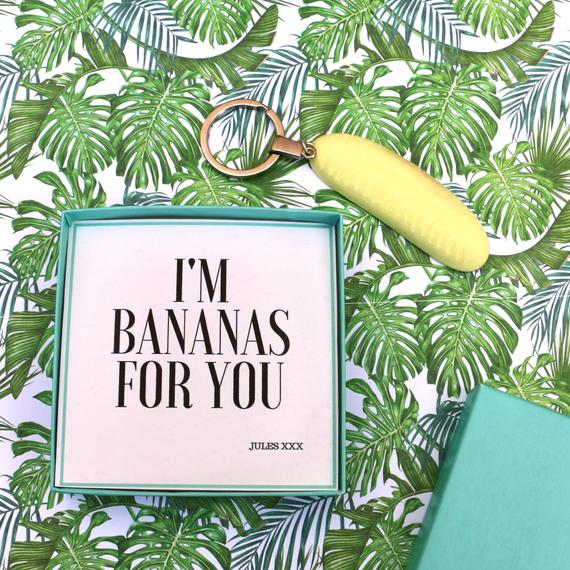 I'm Bananas For You - Keyring Message Box