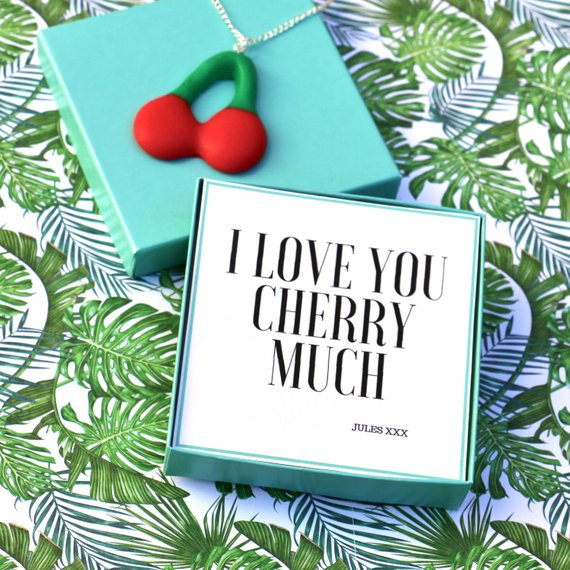 I Love You Cherry Much - Keyring Message Box