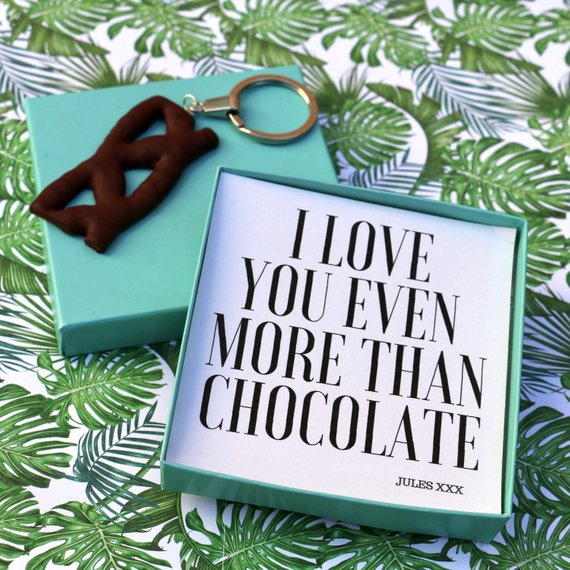 I Love You Even More Than Chocolate (Curly Wurly) - Keyring Message Box