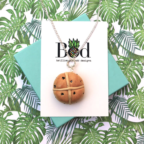 Hot Cross Bun (Large Pendant) - Necklace