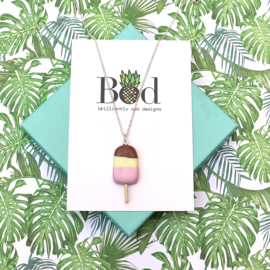 Neapolitan Ice Lolly - Necklace