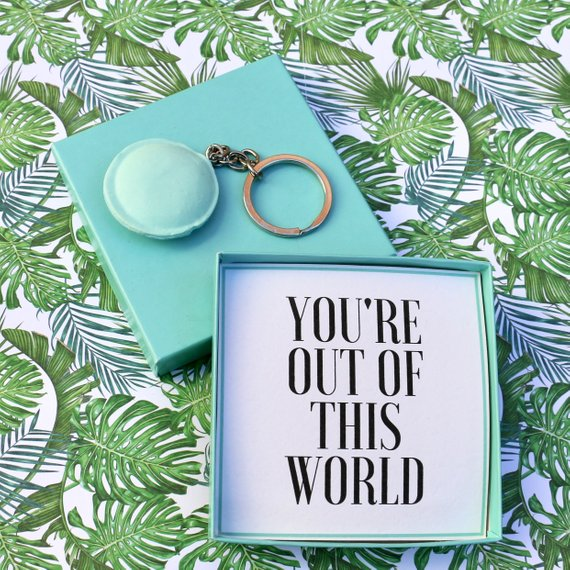 You're Out Of This World - Keyring Message Box