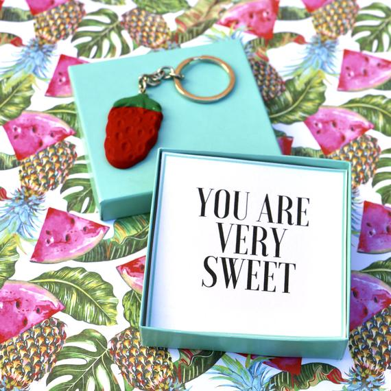 You Are Very Sweet - Keyring Message Box