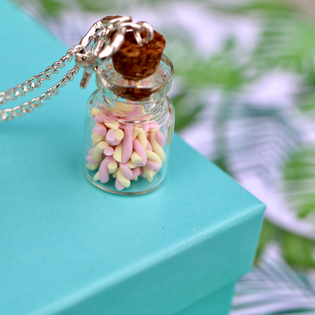 Candy Jar Necklace - Marshmallows